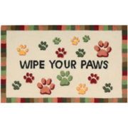 Nourison® Wipe Your Paws Utility Rectangular Rug