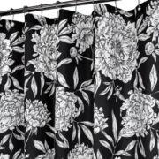 Peony Fabric Shower Curtain
