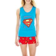 Supergirl Tank Top Boxers Pajama Set