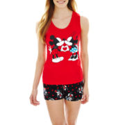 Mickey and Minnie Mouse Tank Top and Boxer Pajama Set