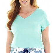 Liz Claiborne® Knit Sleep Tee - Plus