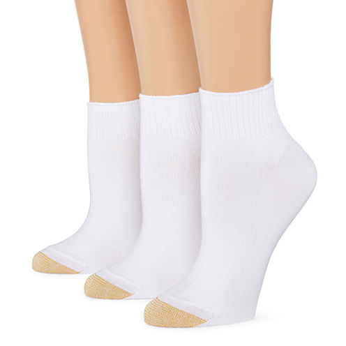 GoldToe® 3-pk. Ultra Soft Quarter Socks