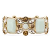 Monet® Multicolor Gold-Tone Flower Statement Stretch Bracelet