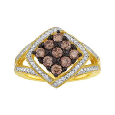 jcpenney.com | 3/4 CT. T.W. White and Champagne Diamond Frame Ring