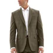 Stafford® Travel Olive Plaid Suit Jacket