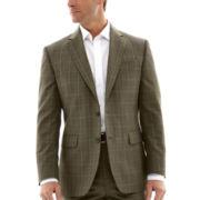Stafford® Travel Olive Plaid Suit Jacket