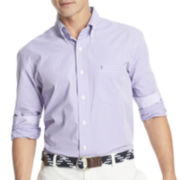 IZOD® Long-Sleeve Small Gingham Woven Shirt