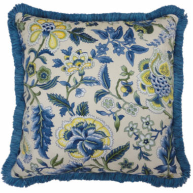 "jcpenney.com | Waverly® Imperial Dress 18"" Fringed Square Decorative Pillow"