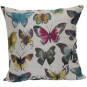Painted Lady Embroidered Decorative Pillow