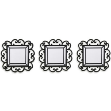 jcpenney.com | Set of 3 Black Scroll Mirrors