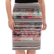 Bisou Bisou® Slit-Back Pencil Skirt - Plus