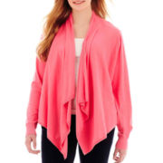 a.n.a® Long-Sleeve Flyaway Cardigan Sweater - Plus