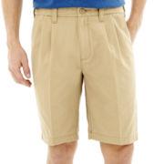 Lee® Comfort Flex Pleated Shorts