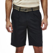 Haggar® Cool 18® Pleated Oxford Shorts