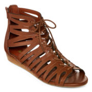 Mia Girl® Salena Demi Gladiator Wedge Sandals
