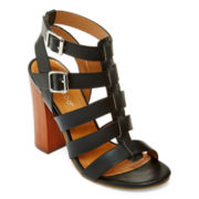 Bamboo Embark Chunky Gladiator Sandals