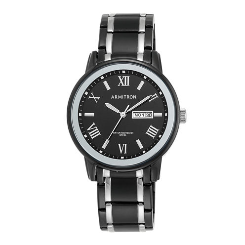 Armitron® Mens Black Bracelet Watch