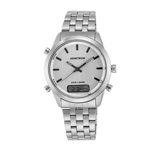 Armitron® Mens Silver-Tone Bracelet Watch