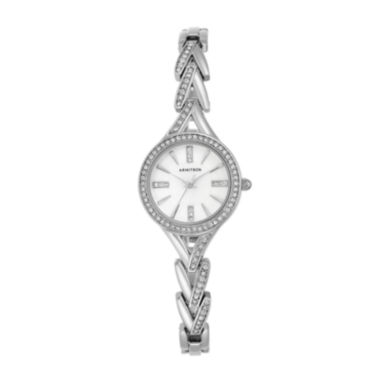 jcpenney.com | Armitron® Womens Crystal Silver-Tone Round Bangle Watch