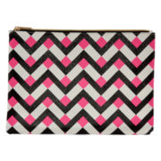 Worthington® Pink Chevron Pouch Wallet