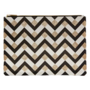 Worthington® Yellow Chevron Pouch Wallet