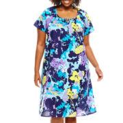 Adonna® Flutter-Sleeve Caftan - Plus