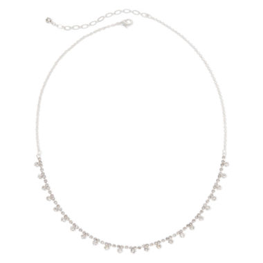 jcpenney.com | Vieste® Silver-Tone Crystal Necklace