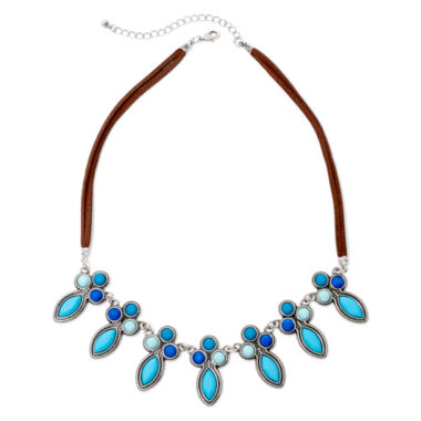 jcpenney.com | Decree® Silver-Tone Blue Stone Collar Necklace