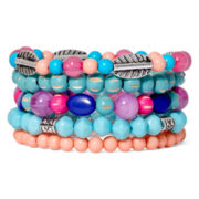 Decree® Multicolor Stretch Beaded Multi-Bracelet
