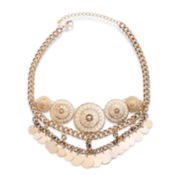 Bold Elements™ Gold-Tone Medallion Shakey Necklace