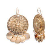 Bold Elements™ Gold-Tone Medallion Shakey Earrings