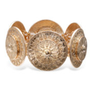 Bold Elements™ Gold-Tone Medallion Stretch Bracelet