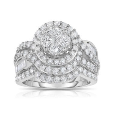 jcpenney.com | Harmony Eternally in Love 2 CT. T.W. Diamond 10K White Gold Bridal Set