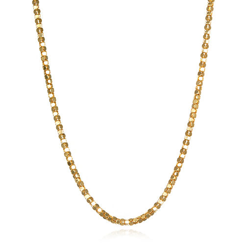 "14K Yellow Gold Diamond-Cut Popcorn 16"" Chain Necklace"