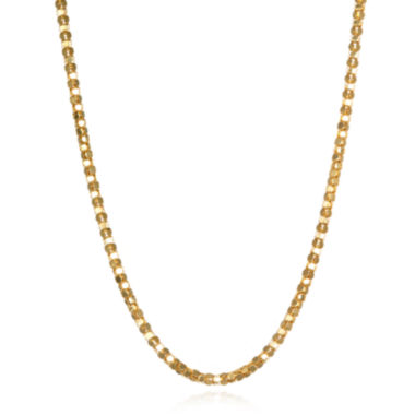 "jcpenney.com | 14K Yellow Gold Diamond-Cut Popcorn 18"" Chain Necklace"