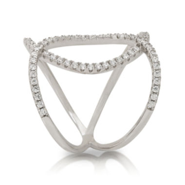 jcpenney.com | Cubic Zirconia Sterling Silver Double Loop Ring