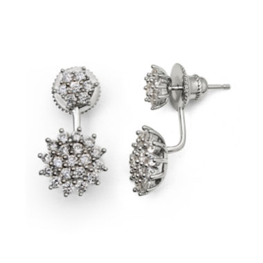 jcpenney.com | Cubic Zirconia Sterling Silver Starburst Earrings