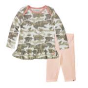 Burt's Bees Baby™ Long-Sleeve Camo Tunic and Pants - Baby Girls newborn-24m