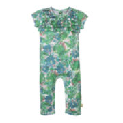 Burt's Bees Baby™ Short-Sleeve Floral Coverall - Baby Girls newborn-24m