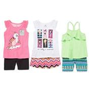 Okie Dokie® Trapeze Tank, Ruffle Tank, Easy Short, Print Short or Bike Short - Toddler Girls 2t-5t