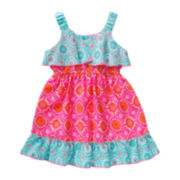 Youngland® Sleeveless Popover Sundress - Toddler Girls 2t-4t