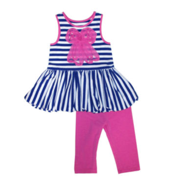 jcpenney.com | Marmellatta Bow Top and Leggings Set - Toddler Girls 2t-4t