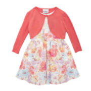 Rare Editions Floral Cardigan Dress - Girls 7-16
