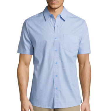 jcpenney.com | Haggar® Short-Sleeve Printed Woven Shirt