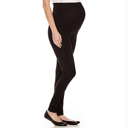 Maternity Pull-On Ankle Leggings - Plus
