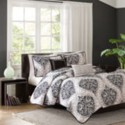 Intelligent Design Sydney Damask Coverlet Set