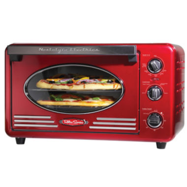 jcpenney.com | Nostalgia RTOV220RETRORED Retro Series 6-Slice Convection Toaster Oven