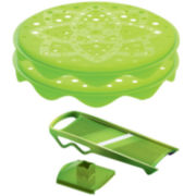 Mastrad® Topchips 2-Tray Stackable Green Chip Maker Set