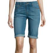 St. John's Bay® Secretly Slender Bermuda Shorts
