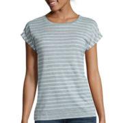 Stylus ™ Short-Sleeve Eyelet Stripe T-Shirt